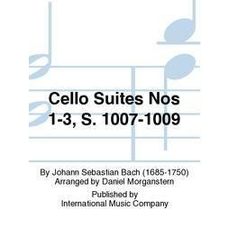 International Music Co. BACH-Cello Suites Nos. 1-3, S. 1007-1009, Viola II part (Accompaniment Ad Libitum) (MORGANSTERN, Daniel)