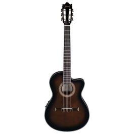 Ibanez GA35TCE Thinline Classical Nylon-String Acoustic-Electric Guitar (Dark Violin Sunburst High Gloss)