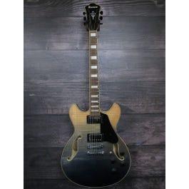 Ibanez AS73FM Semi-Hollowbody Electric Guitar (Transparent Indigo Fade) Electric Guitar