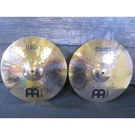 """Meinl Cymbals Classics Custom Medium 14"""" Hi-Hat Cymbals"""