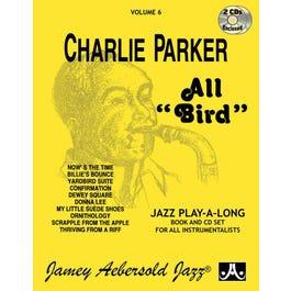 Jamey Play A Long Vol 6 Charlie Parker All Bird (Book & 2 CD's