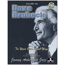 Image for Play A Long Vol 105 Dave Brubeck In Your Own Sweet Way (Book and CD) from SamAsh