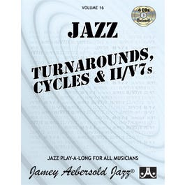 Jamey Play A Long Vol 16 Turnarounds Cycles and  II V7s (Book & 4 CD'S