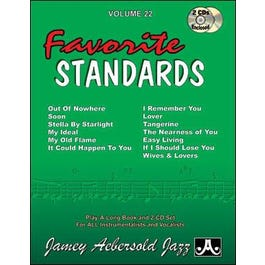 Jamey Play A Long Vol 22 Favorite Standards (Book and CD)