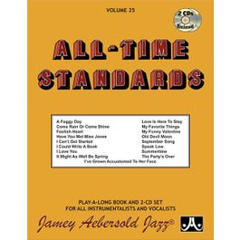 Jamey Play A Long Vol 25 All Time Standards (Book & 2 CD'S