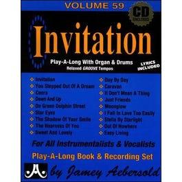 Jamey VOLUME 59 - INVITATION - Play-a-long With B3 Organ!Book/2CDs