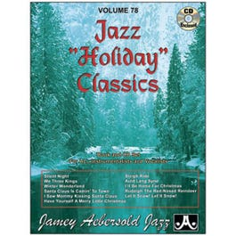 Image for Play A Long Vol 78 Jazz Holiday Classics (Book and CD) from SamAsh