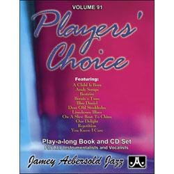 Image for Play A Long Vol 91 Players Choice (Book and CD) from SamAsh