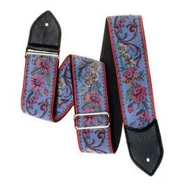 "Jodi Head 2.5"" Bronx Blue Floral Tapestry Guitar Strap"
