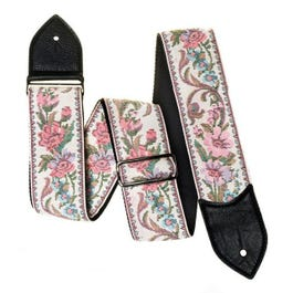 "Jodi Head 2.5"" Harlem Pink Floral Tapestry Guitar Strap"