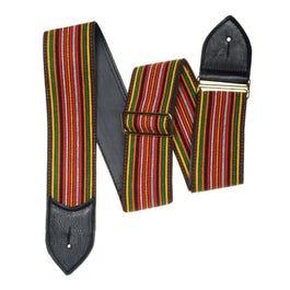 "Jodi Head 2.5"" Nudie Highway Guitar Strap with Black Leather Ends"