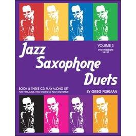 Image for Jazz Saxophone Duets Volume 3 - Bk/3 CDs from SamAsh