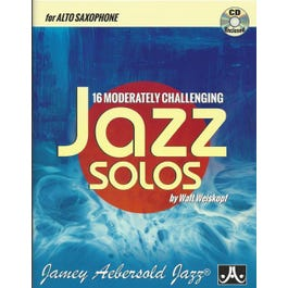 Jamey 16 Moderately Challenging Jazz Solos - Alto Sax-Book/CD