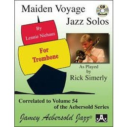 Aebersold Maiden Voyage Solos For Trombone - Book/CD