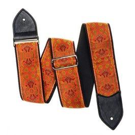 "Jodi Head 2.5"" Orange Gypsy Tiger Guitar Strap"