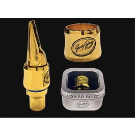 Image for Power Ring Gold Clarinet Ligature from SamAsh