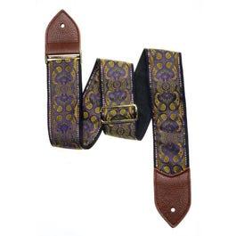 "Jodi Head 2.5"" Purple Gypsy Tiger Guitar Strap"