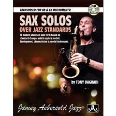 Image for Sax Solos Over Jazz Standards - (Book and CD) from SamAsh