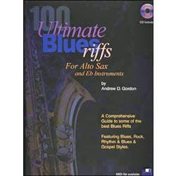 Image for 100 Ultimate Blues Riffs for Tenor Sax Book and CD from SamAsh