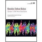 Kendor Music Kendor Debut Solos - Bb Tenor Sax - Piano Accompaniment-
