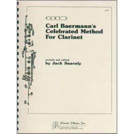 Kendor Music Carl Baermann's Celebrated Method For Clarinet, Part 3