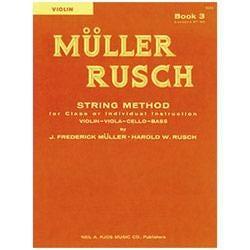 Image for Muller-Rusch String Method Book 3-Violin from SamAsh