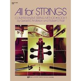 Kjos All For Strings Book 1 for String Bass
