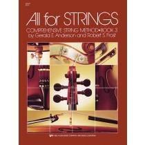 Kjos All for Strings Book 3 for Violin