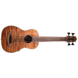Image for UBASS-EM-FS/LH Exotic Mahogony Left-Handed Acoustic-Electric U-Bass Ukulele from SamAsh