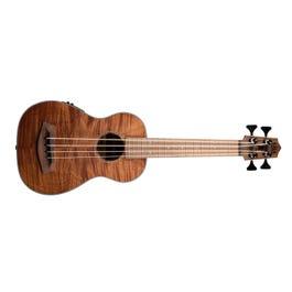 Image for UBASS-EM-FSRW Exotic Mahogany Acoustic-Electric Ukulele Bass with Round Wounds from SamAsh