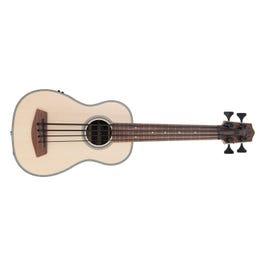 Image for Fretless Solid Spruce Mahogany Ubass Acoustic-Electric Ukulele Bass Guitar from SamAsh
