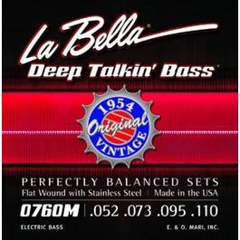 La Bella 0760M Deep Talkin' Bass, 1954 Stainless Steel Flat Wound