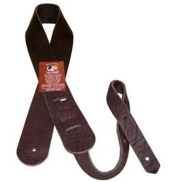 "Lakota Leathers 2"" Bison Leather Guitar Strap, Chocolate"