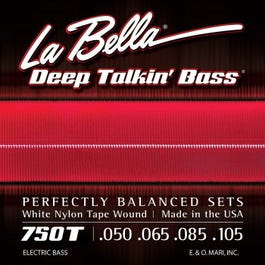 La Bella 750T White Nylon Tape Wound, Light 50-105