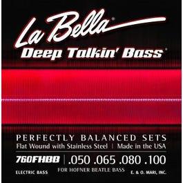 "La Bella 760FHBB ""Beatle"" Bass Stainless Steel Flat Wound (50-100)"