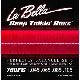La Bella 760FS Deep Talkin' Bass Flat Wound – Standard (45-105)