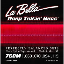 La Bella 760N Deep Talkin' Bass Black Nylon Tape Wound (60-115)