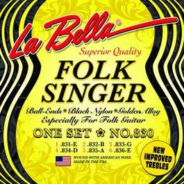 Image for 830 Folksinger Series Nylon Guitar Strings from SamAsh