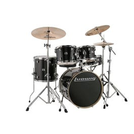 Image for Evolution 5-Piece Drum Kit with Zildjian Cymbals (Black Sparkle) from SamAsh