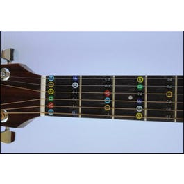 Long Beach Music String Instrument Note Name Stickers