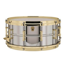 Image for Chrome-over-Brass Supraphonic Snare Drum with Tube Lugs