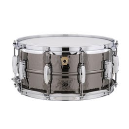 Image for Black Beauty Snare Drum with Hammered Shell from SamAsh
