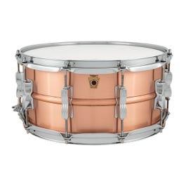 "Ludwig Acro Copper 6.5""x14"" Snare Drum"