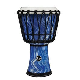 """Image for 7"""" Rope Tuned Circle Djembe with Perfect Pitch Head (Blue Marble) (Open Box) from SamAsh"""