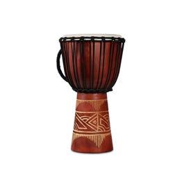 Image for World Bat Wood Art Medium Djembe Drum