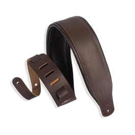 """Image for M26PD-DBR_DBR Classics Series 3"""" Padded Leather Guitar Strap"""