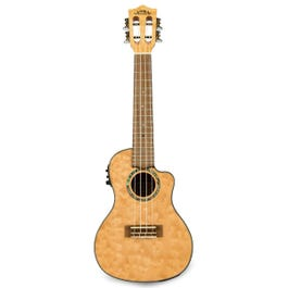 Image for Quilted Maple Natural Stain Acoustic-Electric Concert Ukulele from SamAsh