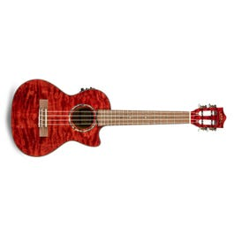Image for Quilted Maple Red Stain Acoustic-Electric Tenor Ukulele from SamAsh