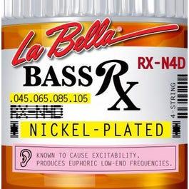 La Bella RX-N4D Bass Rx Nickel-Plated, 45-105