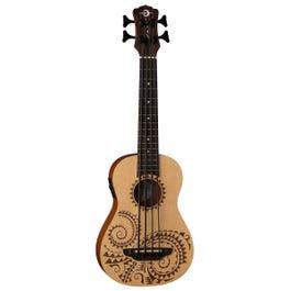 Luna Guitars Bari-Bass Tattoo Spruce Acoustic-Electric Ukulele